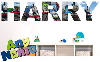 THOMAS THE TANK ENGINE letter name wall stickers (3 sizes available & PRE-CUT)