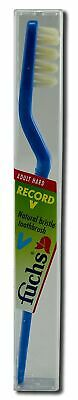 Fuchs Record V Natural Bristle Toothbrush, Adult Hard - 1 Each (Pack of 10)