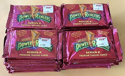 1994  Collect-A-Card Mighty Morphin Power Rangers Series 2 Lot Of 50 Packs