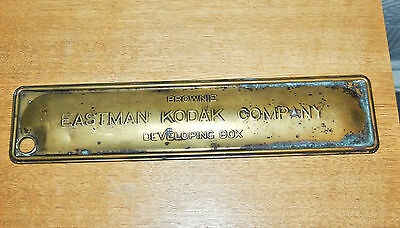 Vintage Eastman Kodak Company Brownie Brass Developing Box. LID ONLY