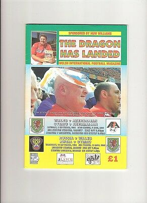 RUSSIA v WALES  2008  Dragon Has Landed issue