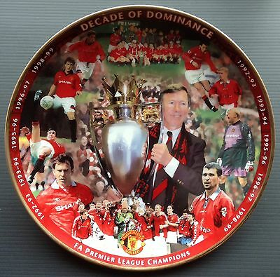 Man Utd Decade Of Dominance Danbury Mint Plate Sir Alex Ferguson COA and Box