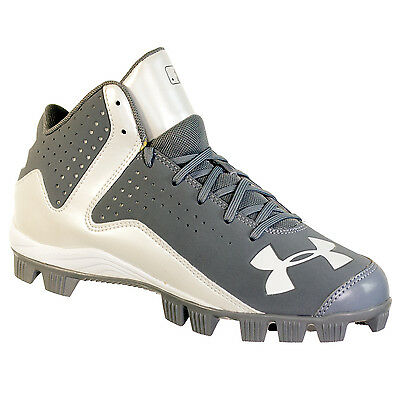 Under Armour Leadoff Mid Rm Jr Youth Baseball Cleats Display Model Grey 4Y
