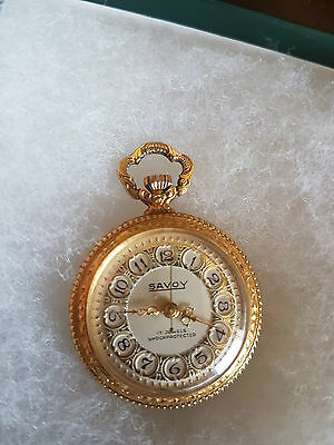 Savoy 17 jewels shock protected - pocket watch donna placcato oro