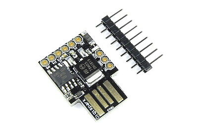 Attiny85 Microcontroller (Digispark-Compatible) USB A PWM I2C SPI Flux Workshop