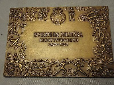 Swedish military sports  plaque Fencing Luxembourg 1959  Carl Wilhelm Engdahl