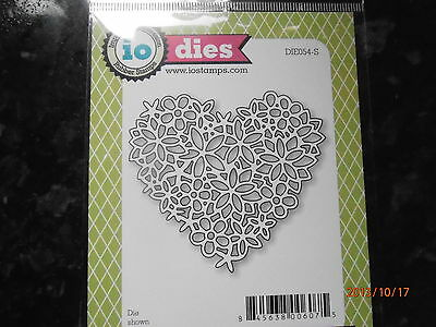 Impression Obsession ~ FLORAL LACE HEART ~  Die ~ 054 ~NEW ~ FREE  P&P