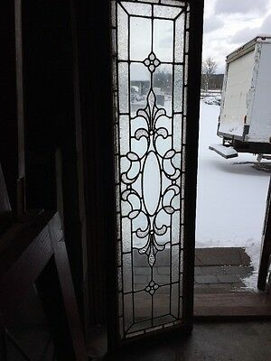 Sg 1083 Antique Textured Beveled Center Jeweled Transom Window