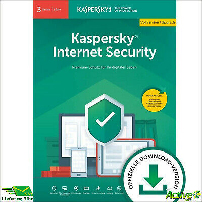 Kaspersky Internet Security 2019 | 3PC 1Jahr | VOLLVERSION / Upgrade DE-Lizenz