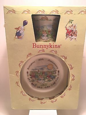 Royal Doulton Bunnykins 60th Anniversary Dancing In The Moonlight Boxed Set 1996
