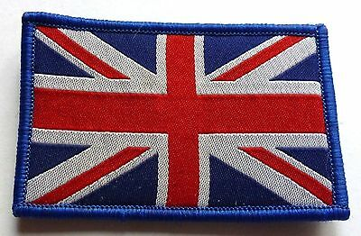 UNION JACK Flag with velcro - SEW OR IRON ON BIKER MOTORCYCLE PATCH 75mm x 50mm