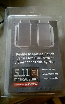 5.11 Black (BladeTech) Double Magazine Pouch 59166 GLOCK .40 & 9mm Double Stack