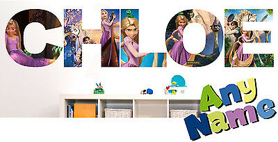 TANGLED RAPUNZEL letter name wall stickers (3 sizes available & PRE-CUT)