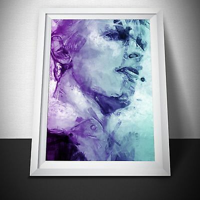 David Bowie Poster. Thin White Duke Abstract Painting Neon.  David Bowie Gift