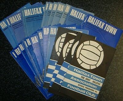 Halifax Programmes 1965-1970 - Select Your Own **FREE POSTAGE IN UK**