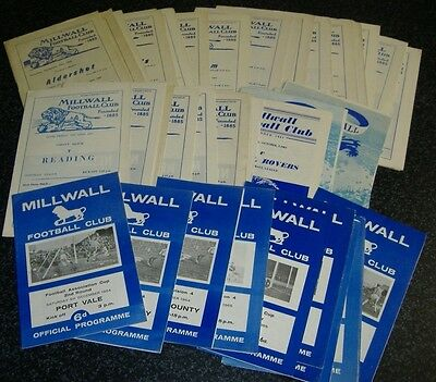 Millwall Programmes 1960/61-1964/65 - Select Your Own **FREE POSTAGE IN UK**