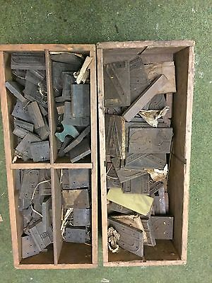 Large Assortment Of Military Issue Stencil Cutters Vintage Unused Industrial