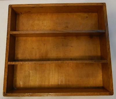 Stained Wood Shelf Shadow Box Storage Tray Trinket Collectibles Display