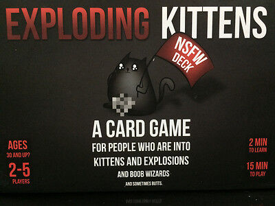 Exploding Kittens nsfw Edition Fun Party Card Game PERFECT FOR NEW YEARPARTY