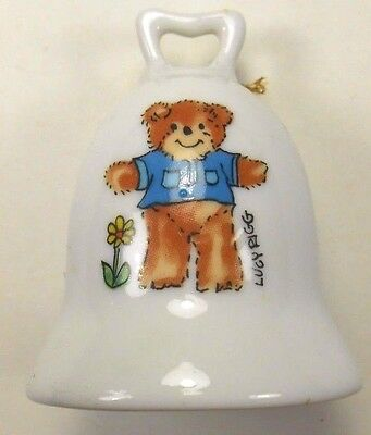 """Lucy & Me Pigglets Enesco Bear Bell Almost 3"""" High 1979"""