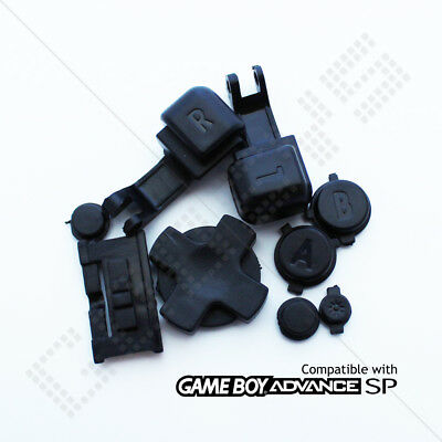 New Replacement Black Colour Buttons Nintendo Game Boy Advance SP (GBA SP)