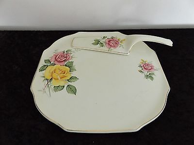 Lord Nelson Ware Serving Plate With Cake Server Made By Elijah Cotton