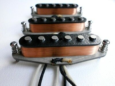 Stratocaster Alnico 2/5 MIXED Magnets Custom Pickups Set By Q Fits Fender