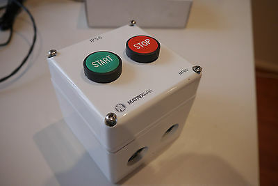 PDL Stop Start Pushbutton Control Station, Switch. 10A 500AC, Weatherproof IP65+