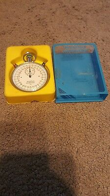 Precise Synchrotimer stopwatch shock resistant 1/10 Swiss made in box