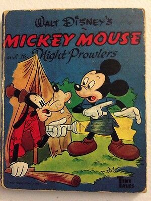 Walt Disney, MICKEY MOUSE And The Night Prowlers A Tiny Tale Book 1949