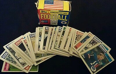 Topps American NFL Football Picture Card Collectors Box (1987) 1-75