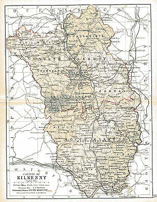 Three antique maps of County Kilkenny & Ireland & a Leinster,fact sheet
