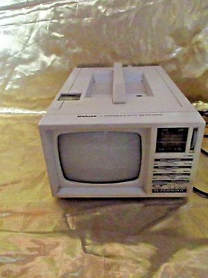 """Vintage 5"""" Portable B/W T.V -AM/FM Radio Deluxe Supersonic"""
