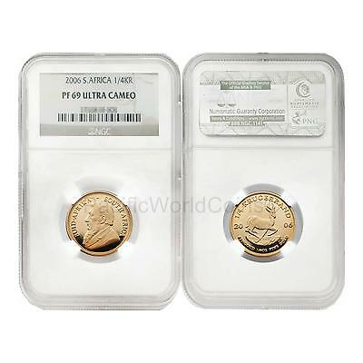 South Africa 2006 1/4 Krugerrand Gold NGC PF69 ULTRA CAMEO