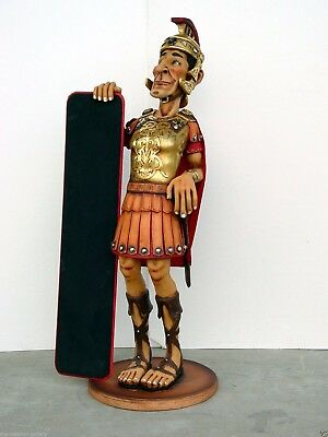 Roman Soldier Menu Board Statue Restaurant Decor 5.5FT - Soldier with Menu Sign