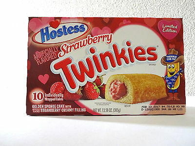 Hostess Limited Edition Strawberry Twinkies Valentine Theme with Free 2 Day Ship