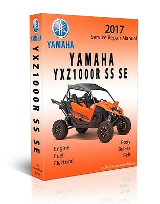 2017 YAMAHA SXS YXZ1000R SS SE Full Service Shop Repair Manual CD ONLY