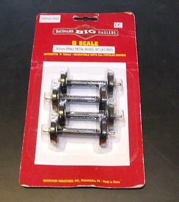 Bachmann 92422 Small metal wheels 24.5mm pk of 4 axles G Gauge NEW Inc P&P