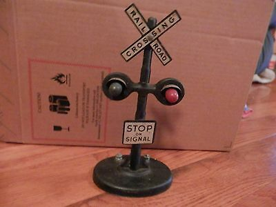 Vintage Marx Railroad Crossing Sign