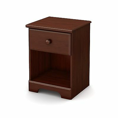 South Shore Summer Breeze 1-Drawer Night Stand Royal Cherry Brown