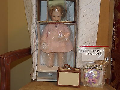 Danbury Mint Porcelain Shirley Temple First Vacation Doll 18 in. MIB