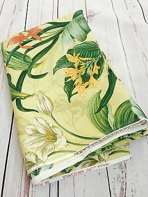 2 Yards Waverly Wailea Coast Sun n Shade Tropical Print Cotton Upholstery Fabric