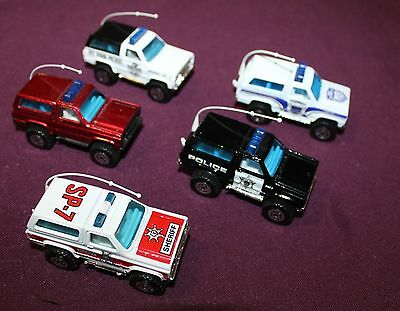 Matchbox Superfast Lot Of 5 Chevy Blazer Police - 1980S-90S All Mint Loose