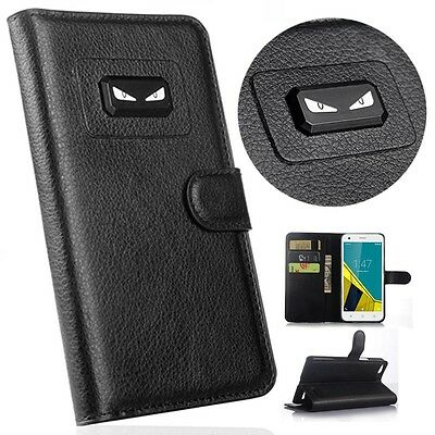 Angry eyes Book Flip Leather Wallet Magnetic Case Cover For Samsung Galaxy Model