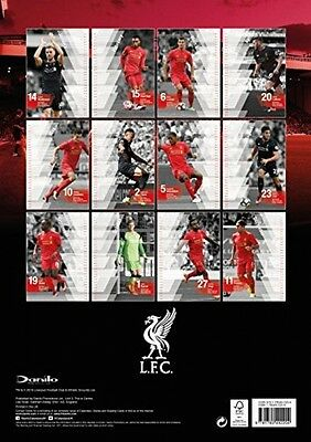 Liverpool Official A3 Wall Calendar 2017 - Football - FAST AND FREE DELIVERY