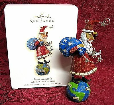 Hallmark 2008 A Santa Claus Christmas Collection Ornament~Peace On Earth