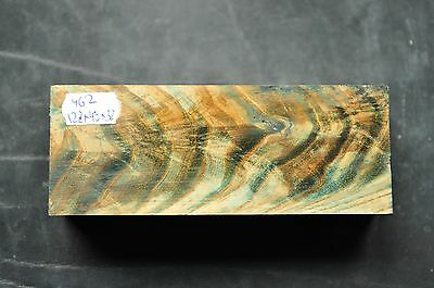 Stabilized mountin ash wood block knife scale handle