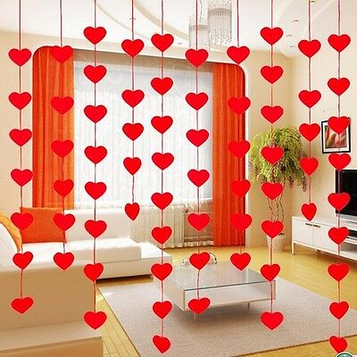 Heart Red Valentine Day Decor Decoration Party Wedding Ornaments 16 Hearts Love