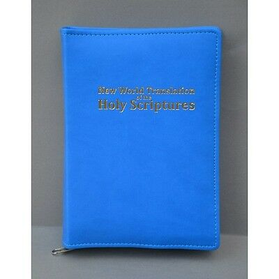 New World Translation Zipped Bible Cover Jehovah's Witness - blue