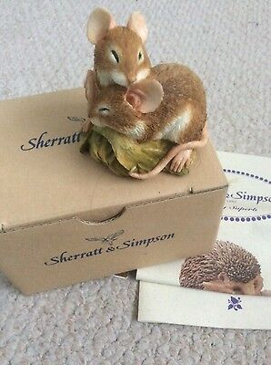 Sherratt and Simpson Bank Vole in Nest with gold label and original box